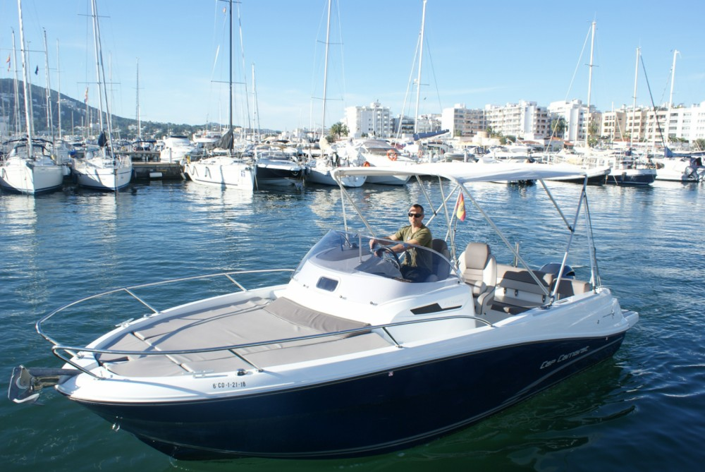Jeanneau Cap Camarat 6.5 WA between personal and professional Ibiza