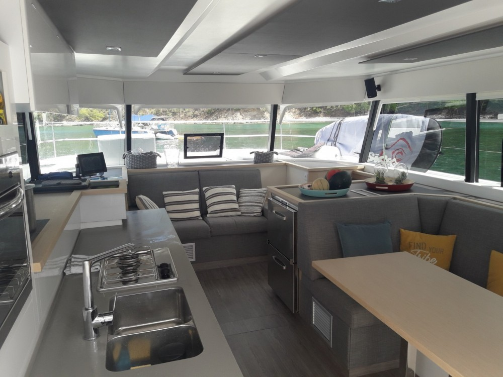 Fountaine Pajot My 37 between personal and professional Le Marin