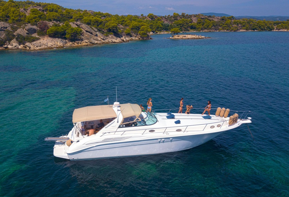 Boat rental Ormos Panagias cheap Sea Ray 450 Sundancer