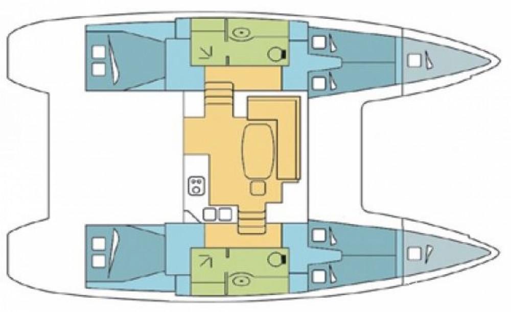 Boat rental Eivissa cheap Lagoon 400
