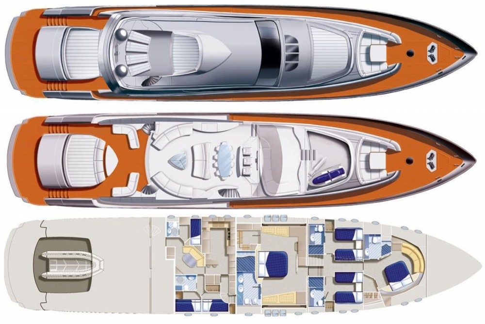 Hire Yacht with or without skipper Pershing Cannes