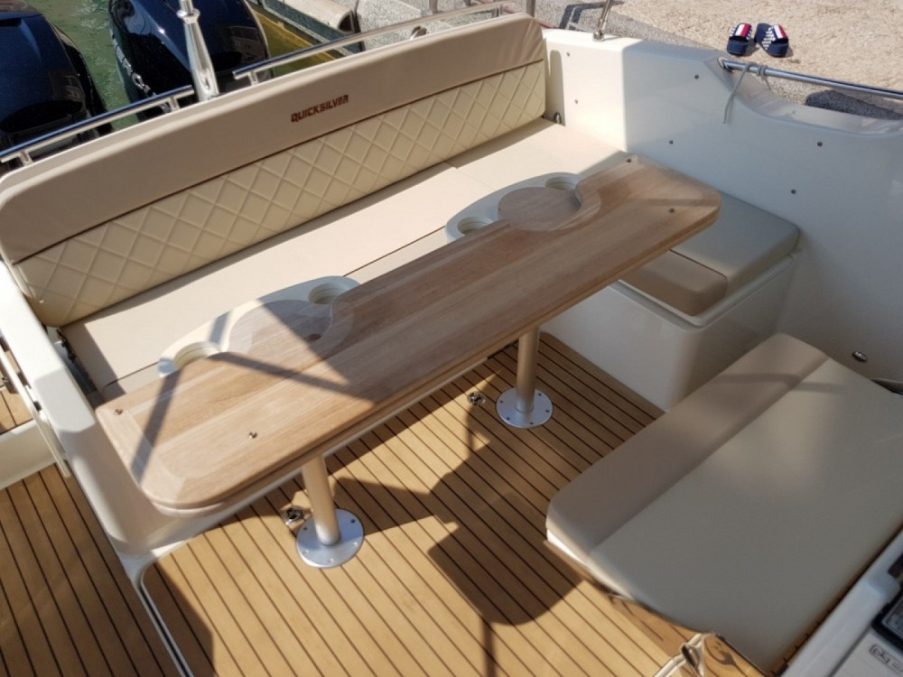 Rent a Quicksilver Activ 875 Sun Deck Fréjus