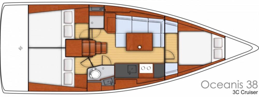 Boat rental Bénéteau Oceanis 38 Weekender in Le Marin on Samboat