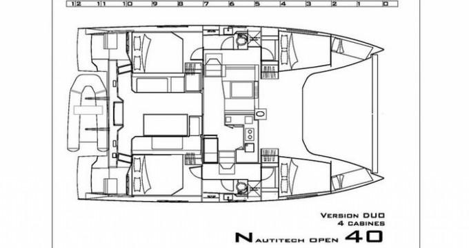 Rental Catamaran in Hyères - Nautitech Nautitech Open 40