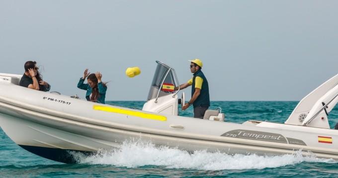 Boat rental Palma de Mallorca cheap Tempest 770