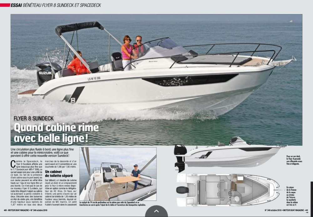 Boat rental Cogolin cheap Flyer 8 Sun Deck