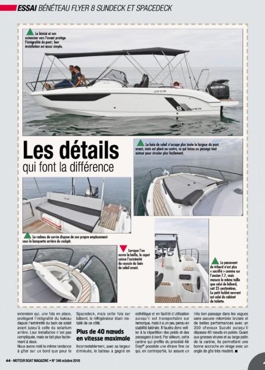 Bénéteau Flyer 8 Sun Deck between personal and professional Cogolin