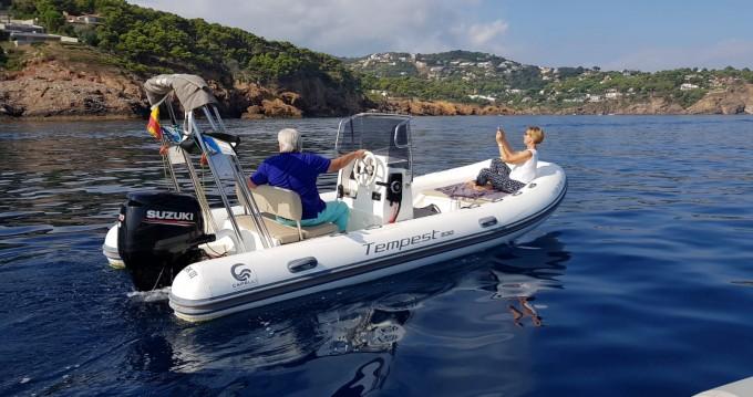 Boat rental Tamariu cheap Tempest 530