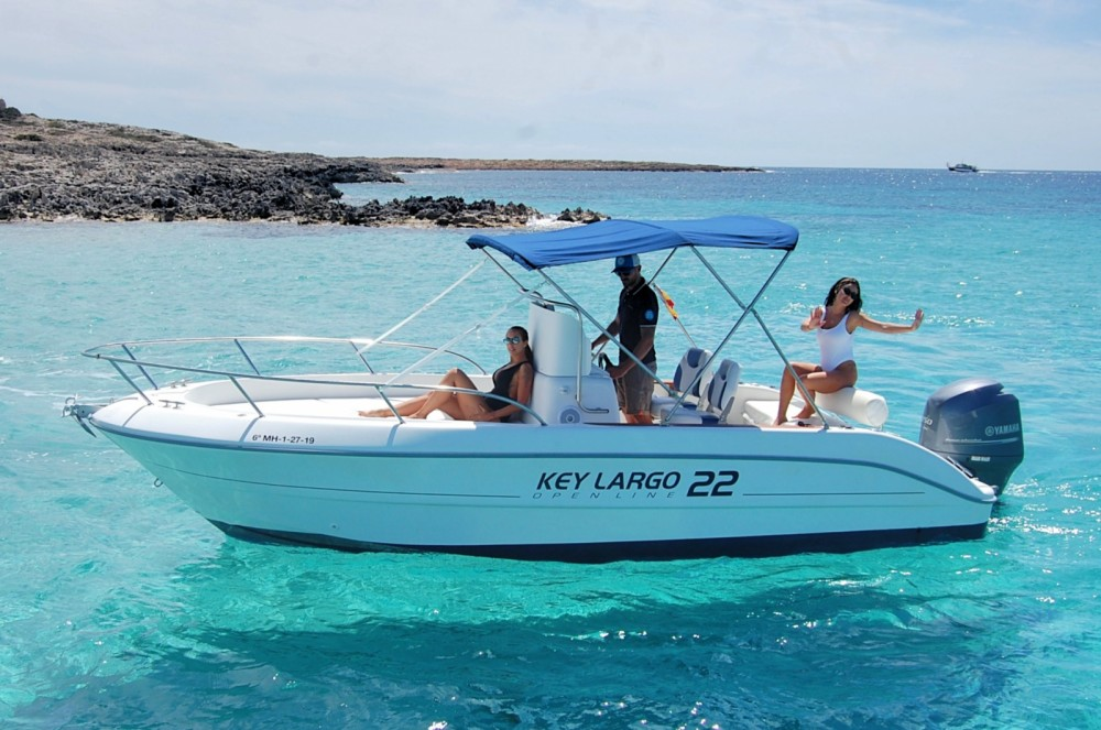 Sessa Marine Key Largo 22 Deck between personal and professional Ibiza