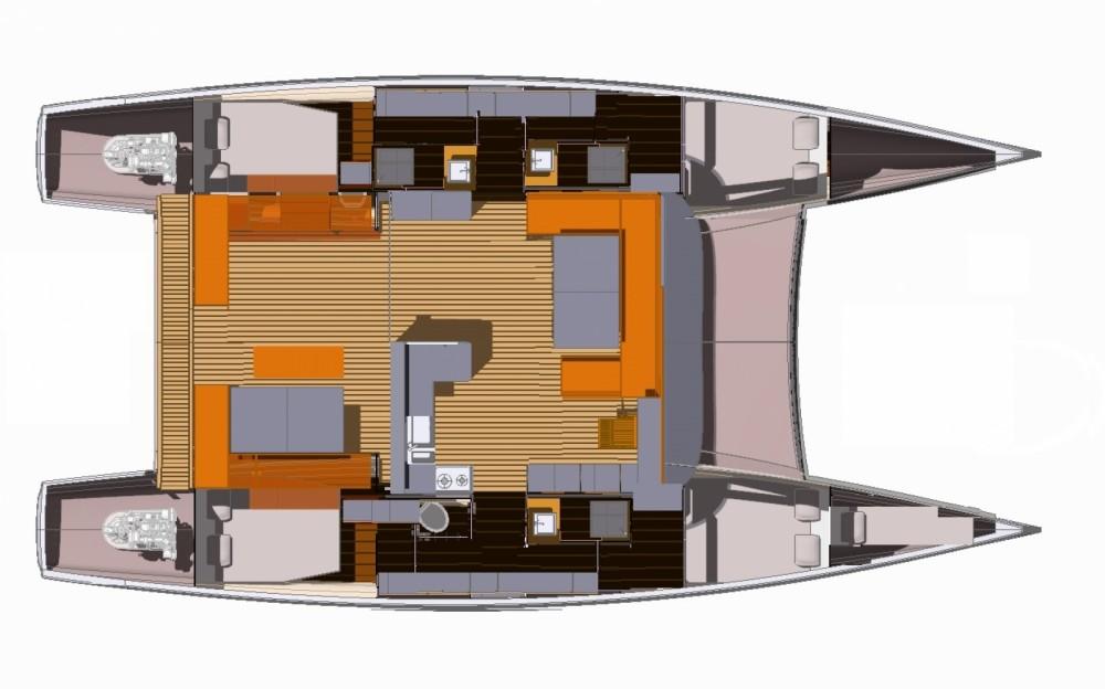Boat rental Le Marin cheap Aventura 43
