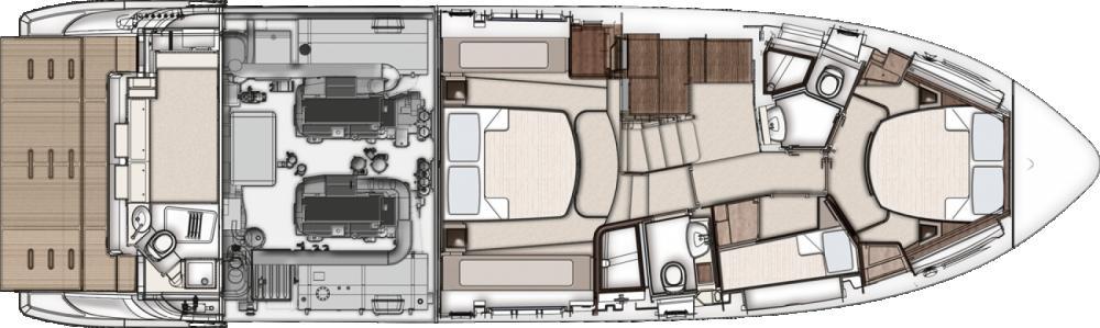 Rent a Azimut 50 Flybridge Makarska