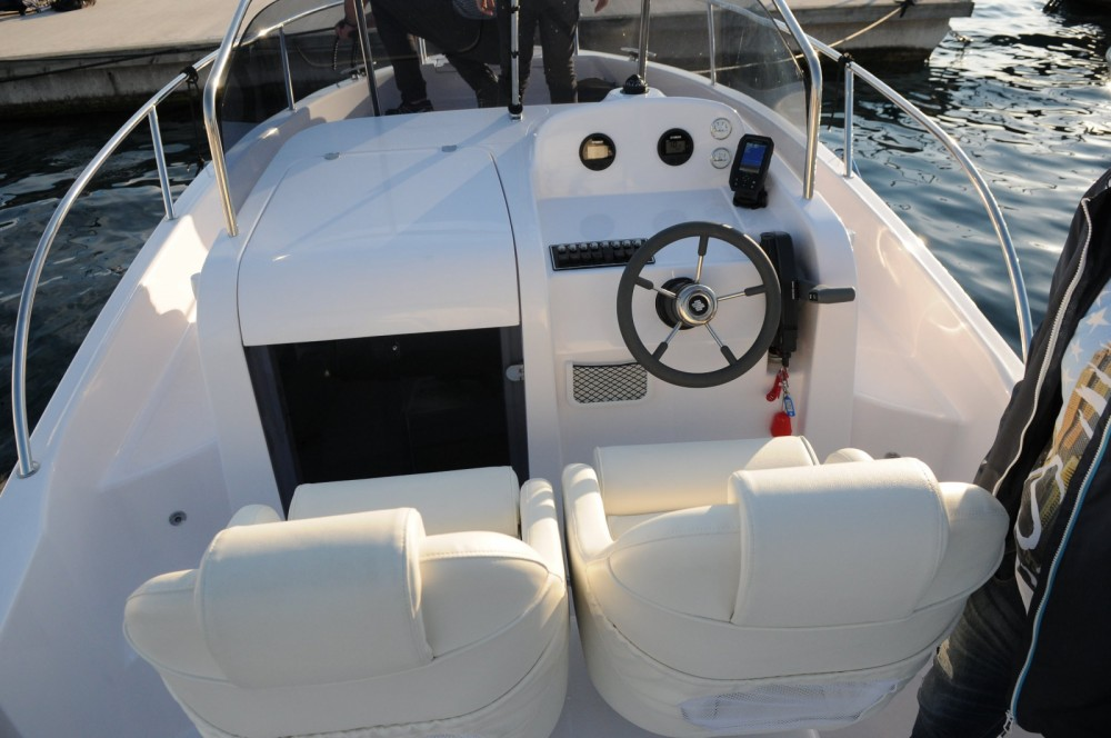 Rental Motorboat Elan with a permit