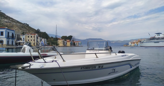 Boat rental Kastelorizo cheap 520 cc