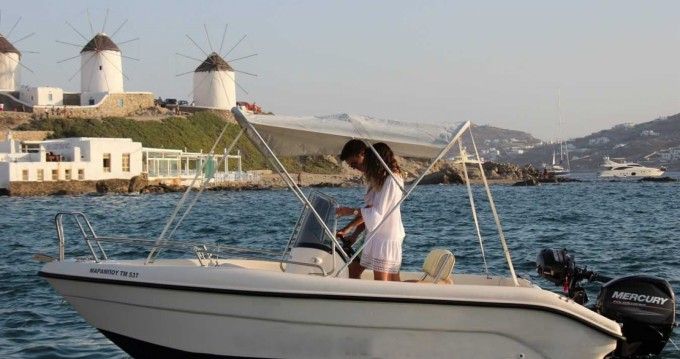 Rental Motorboat Poseidon with a permit