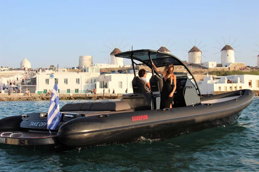 Rental Motorboat Scorpion with a permit