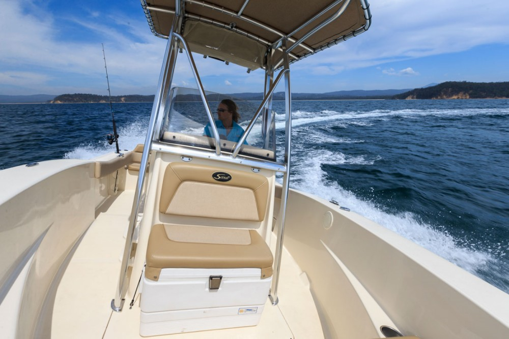 Scout 195 sportfish  between personal and professional Aegean