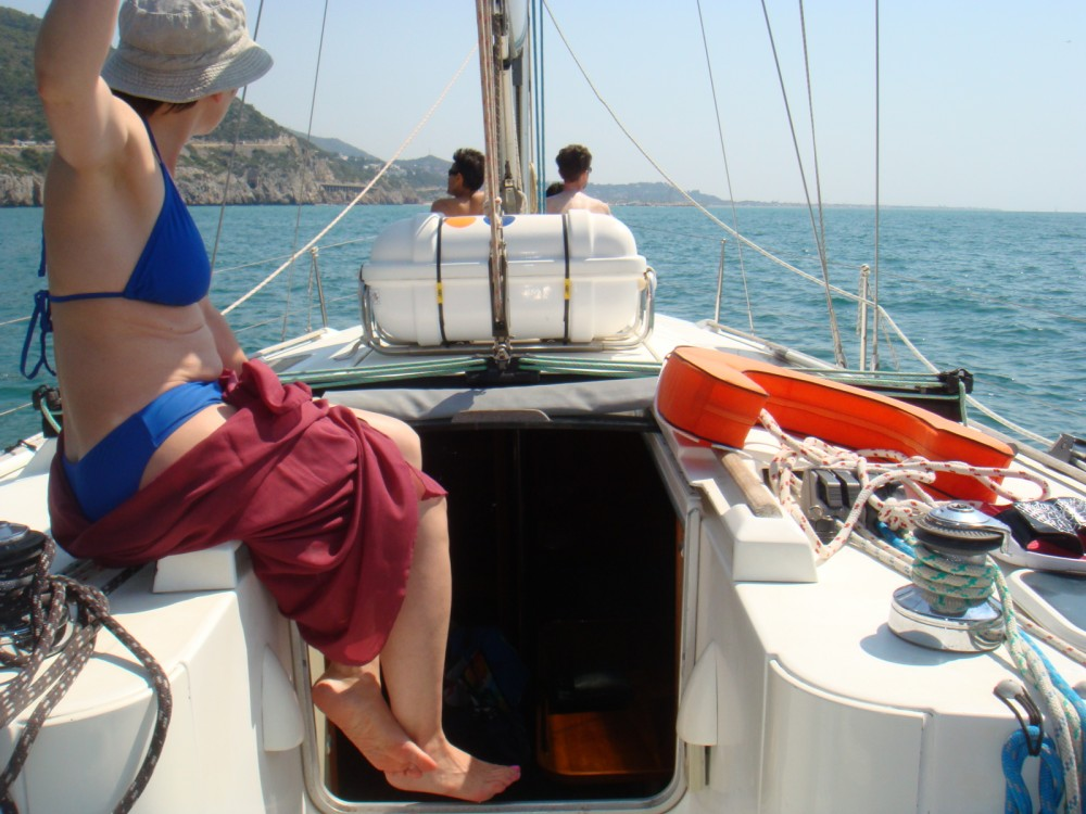 Boat rental Castelldefels cheap Oceanis 400