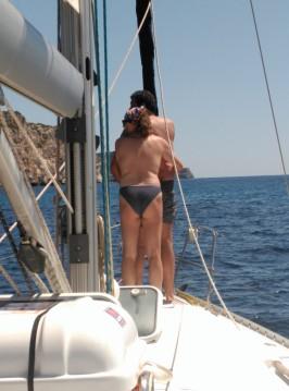 Boat rental Castelldefels cheap Oceanis 400