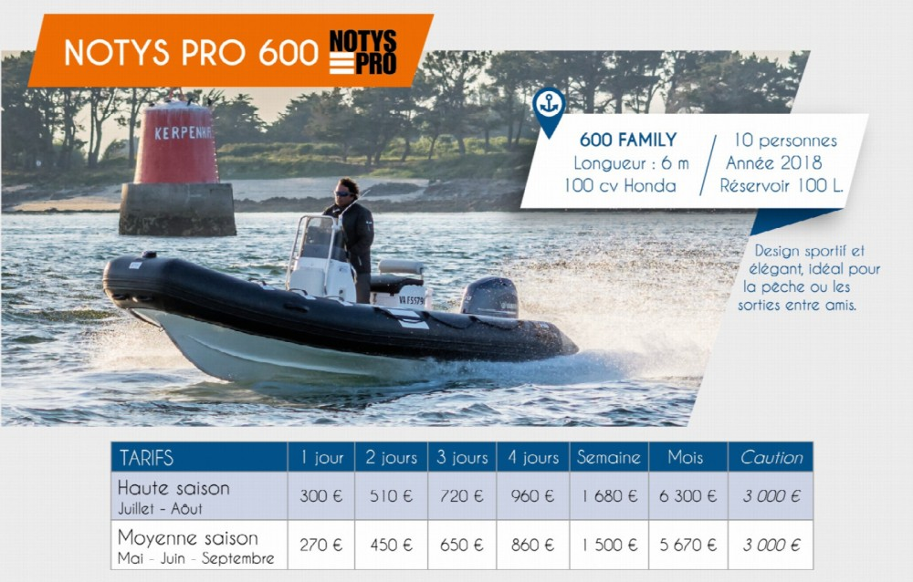 Boat rental Notys-Pro NP 600 in Arzon on Samboat