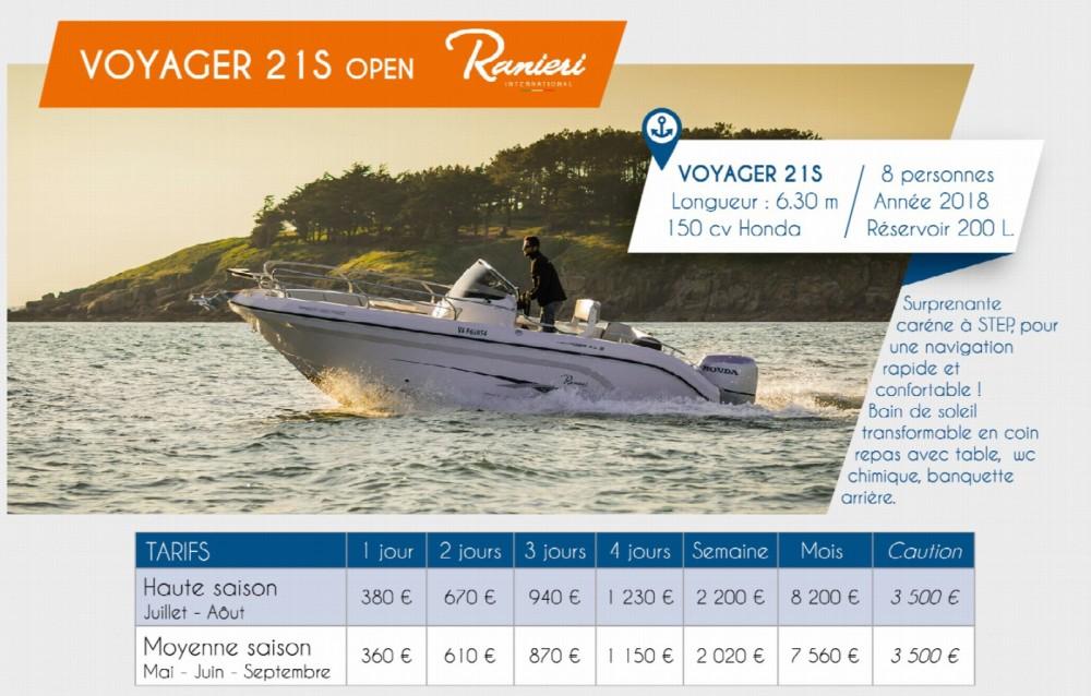 Rental Motorboat in Arzon - Ranieri Voyager 21 S