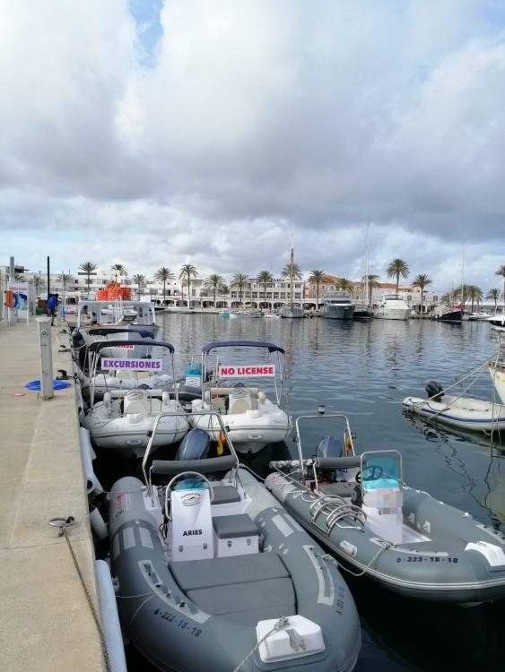 Boat rental Formentera cheap rib 3,90