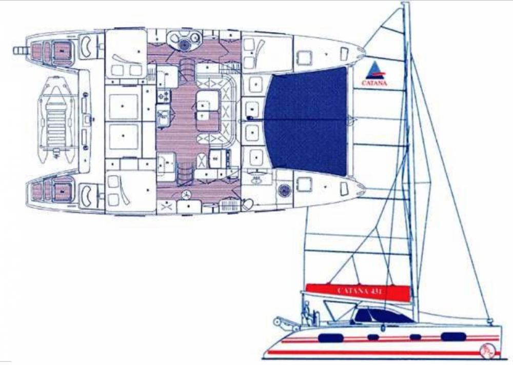 Hire Catamaran with or without skipper Catana Bouillante