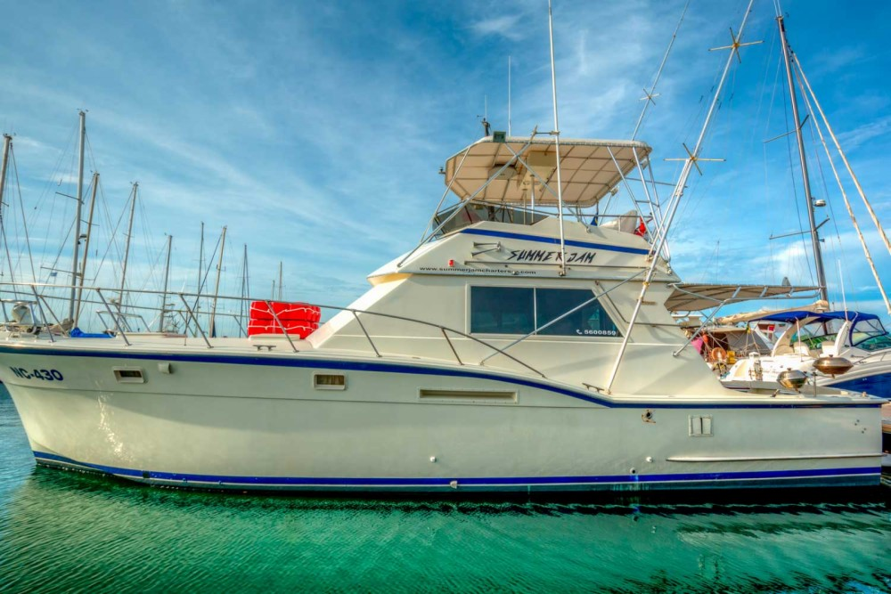 Rental Motorboat Hatteras with a permit