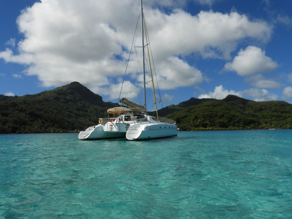 Fountaine Pajot Bahia 46 between personal and professional Papeete