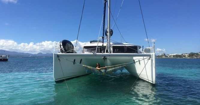 Fountaine Pajot Orana 44 between personal and professional Le Marin
