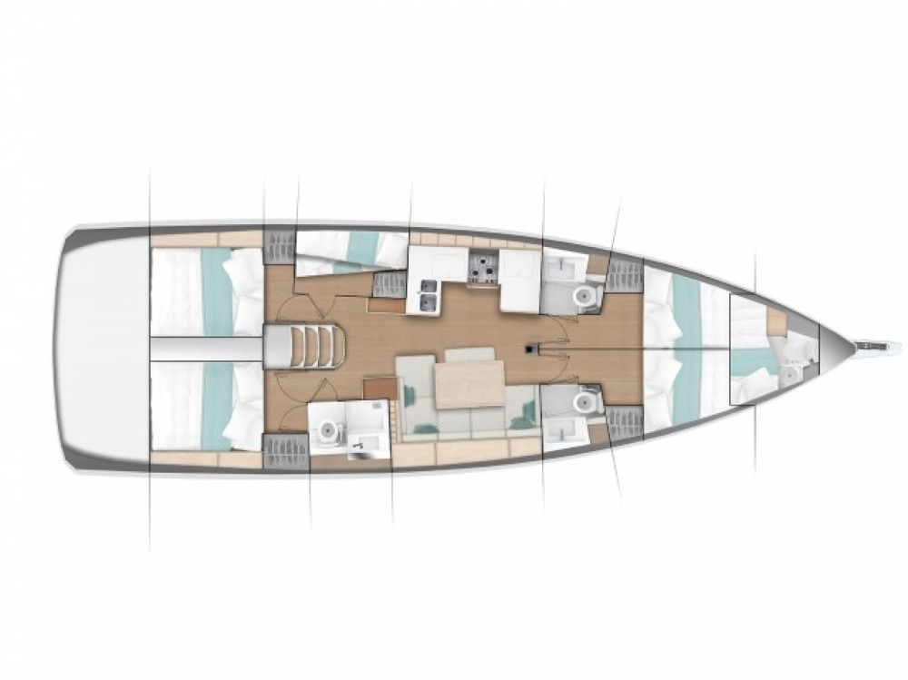 Jeanneau Sun Odyssey 490 between personal and professional Volos