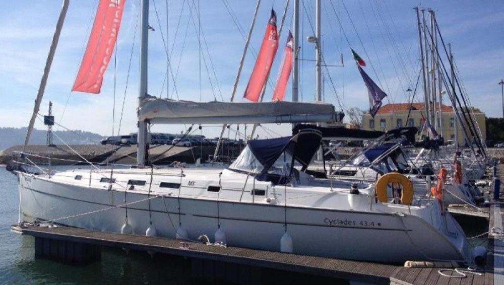 Boat rental Lisbon cheap Cyclades 43.4