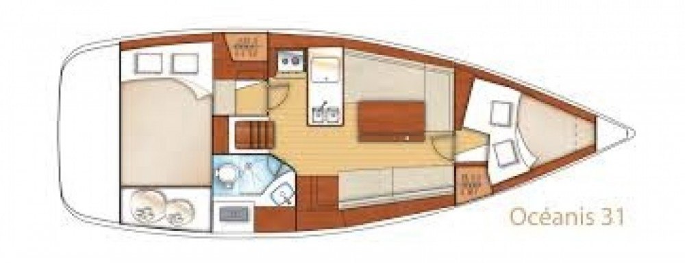 Boat rental Arzon cheap Oceanis 323 Dl
