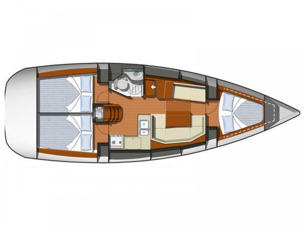 Jeanneau Sun Odyssey 36i between personal and professional Nieuwpoort
