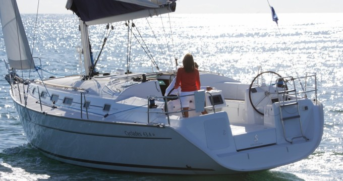 Boat rental Barcelona cheap Cyclades 43