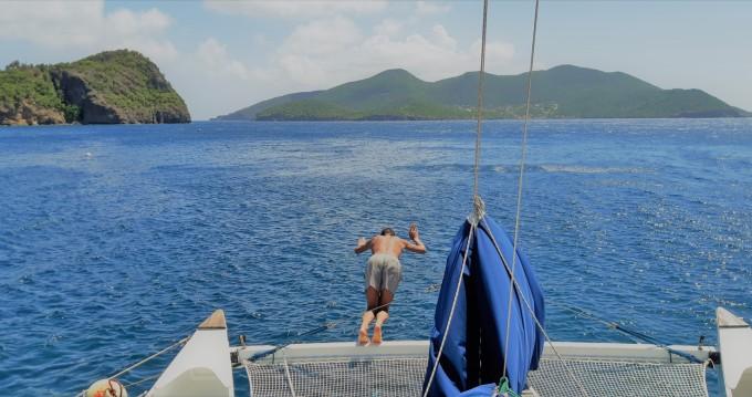 Boat rental Guadeloupe cheap Pahi 42