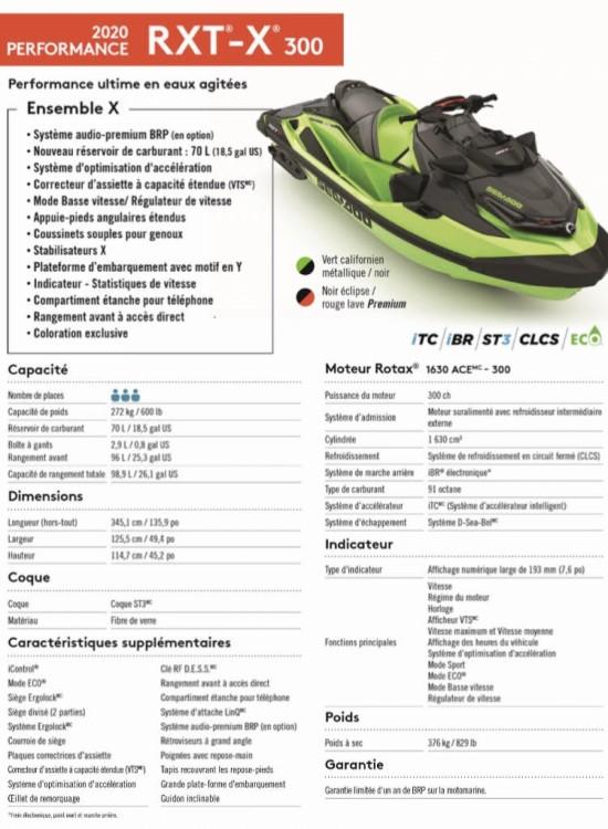 Seadoo Seadoo RXT-X RS 300 / 2020 between personal and professional Mandelieu-la-Napoule