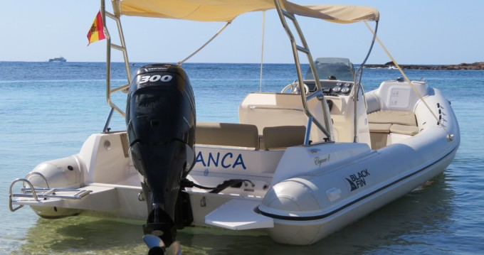 Hire RIB with or without skipper Black Fin Ibiza Town