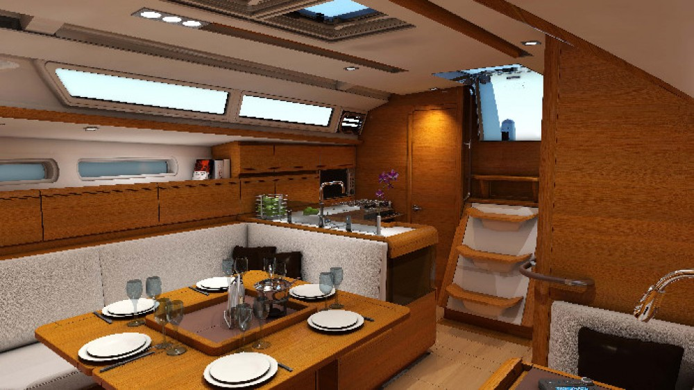 Jeanneau Sun Odyssey 409 between personal and professional Athens