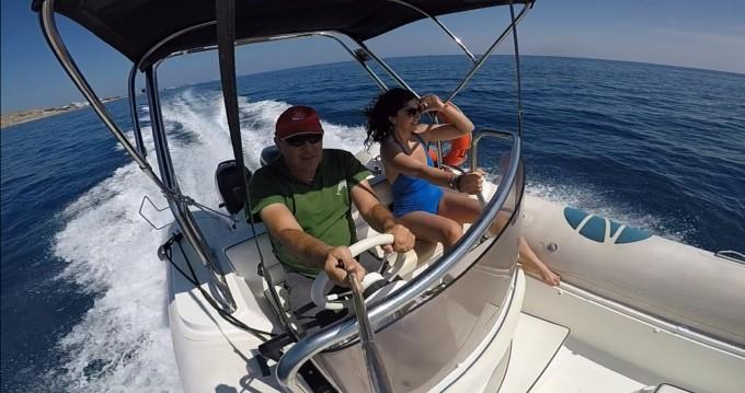 Rental RIB Nautica with a permit