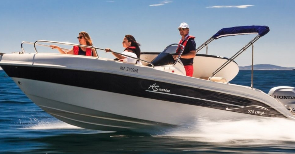 Rental Motor boat As Marine with a permit