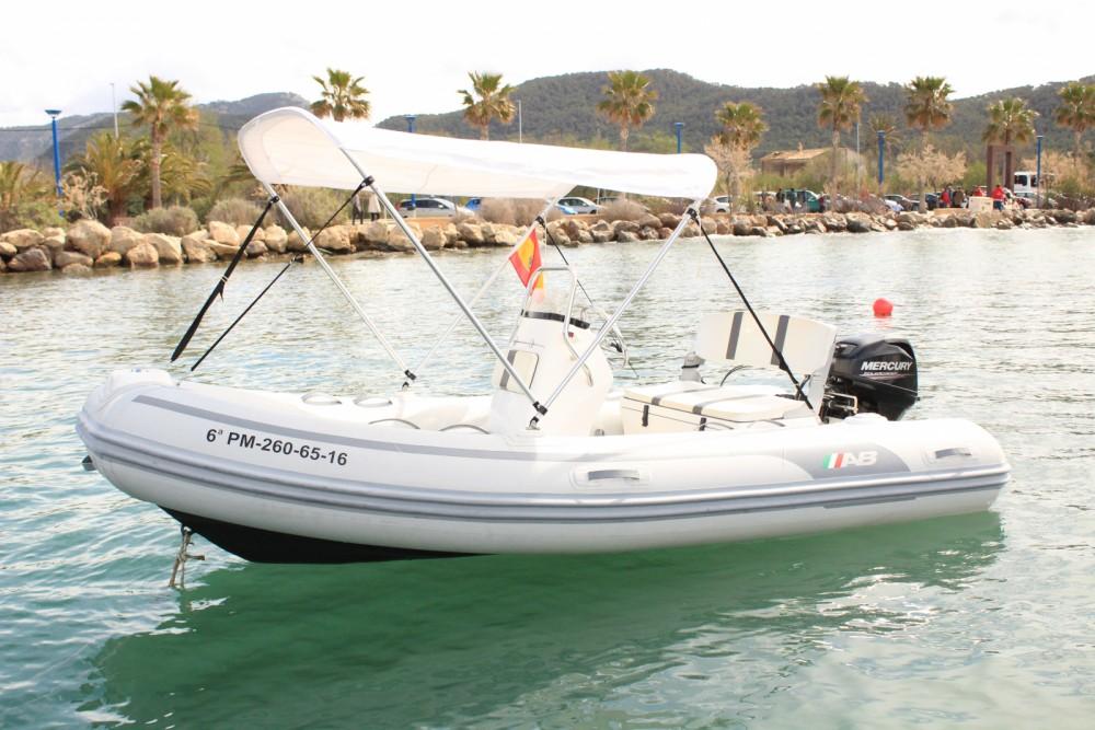 Rental RIB Ab-Marine with a permit