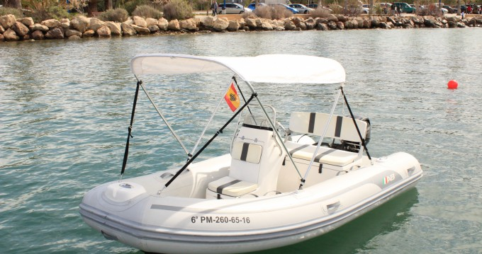 Rental RIB Ab-Marine with a permit