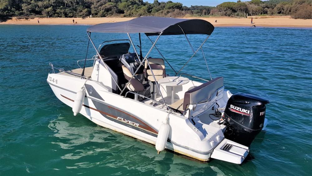 Boat rental Palamós cheap Flyer 550 Sun Deck