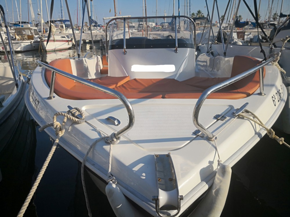 Rental Motor boat Okiboats with a permit