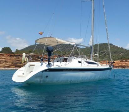Boat rental Ibiza Town cheap Sun Odyssey 28.1