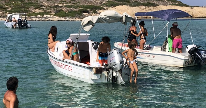 Boat rental Paros Island cheap Semi cabin