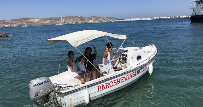 Hire Motorboat with or without skipper Greco marine Paros Island