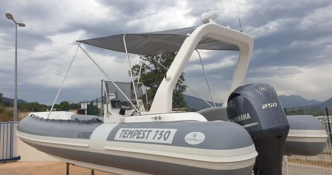 Boat rental Propriano cheap Capelli 750 Work