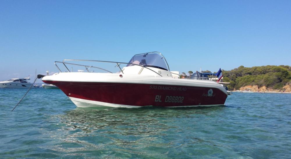 Boat rental Hyères cheap Pacific craft 570 Diamond Head