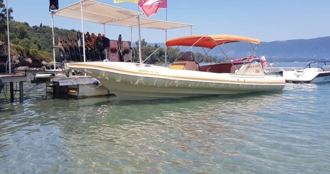 Boat rental Corfu cheap Cappo di Mare 800